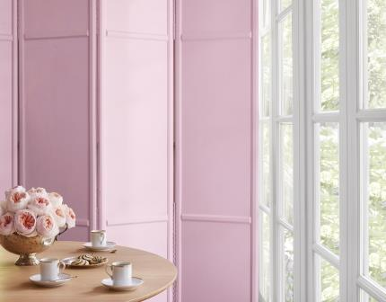 Pink Room Divider with Te